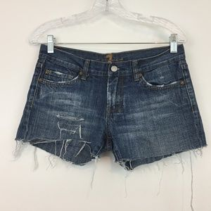 7 For All the mankind Women's Dojo Jeans Shorts